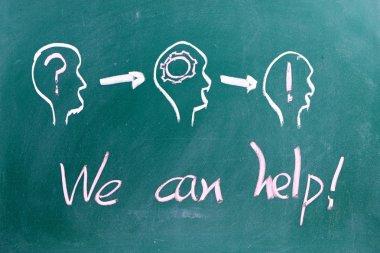 We can help Teamwork Concept