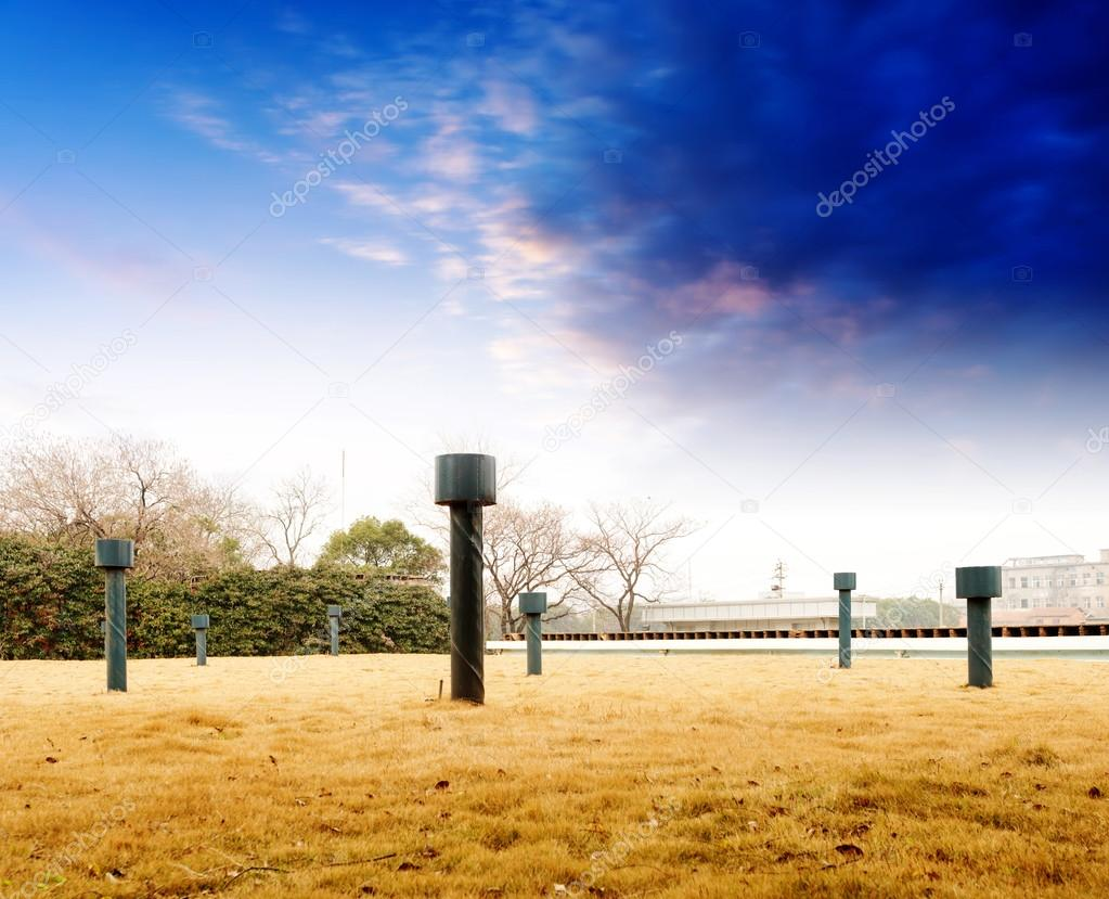 The weather station under blue sky