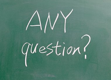 Any questions sign on blackboard