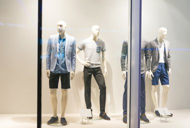 Mannequins in shopping mall