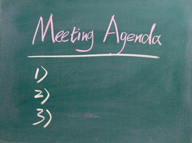 Meeting Agenda sign