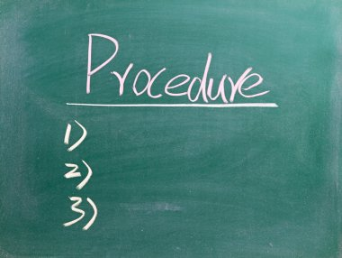Word procedure on blackboard