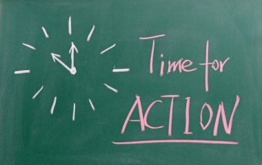 Time for action sign