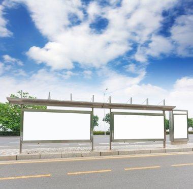 Bus stop billboard