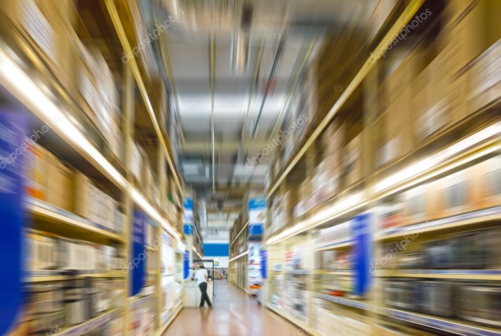 interior of a warehouse