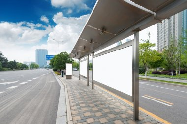 Bus stop and billboard