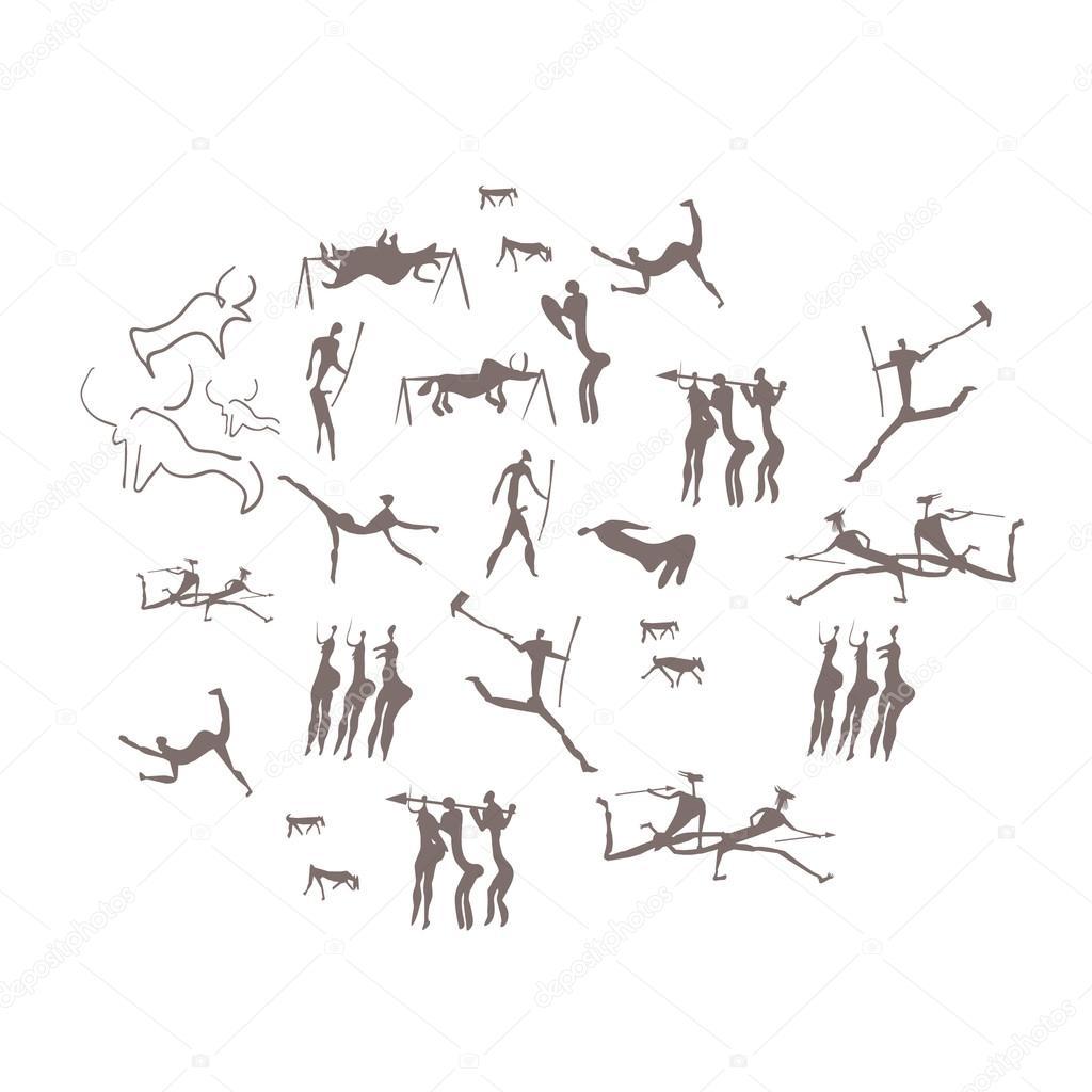 фото наскальных рисунков древних людей