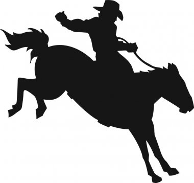 Rodeo Bronco and Rider