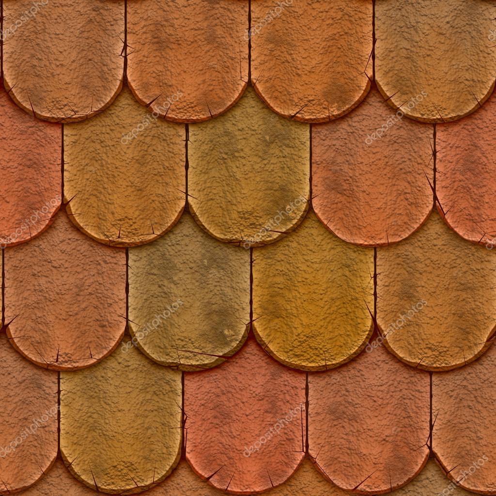 Dachziegel textur seamless  Kies nahtlose Textur Dachziegel — Stockfoto #54221093