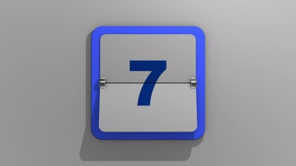 Stílusos animált 3D-s renderelés egy flipping naptár egy stop a huszonegyedik napon. 3d illusztrációja 21 nap a héten, vagy nyaralás és események. Animáció a huszonegyedik számról.