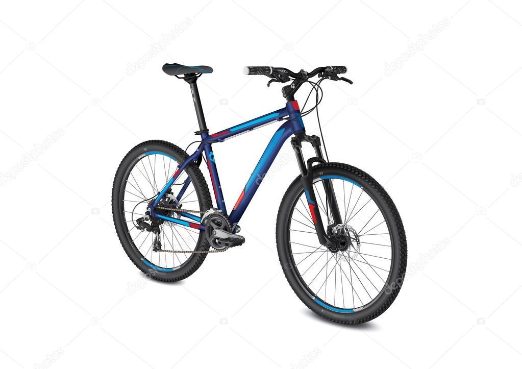 Mountain Blue Red Bike Stock Vector C Rubikmaster 56142869