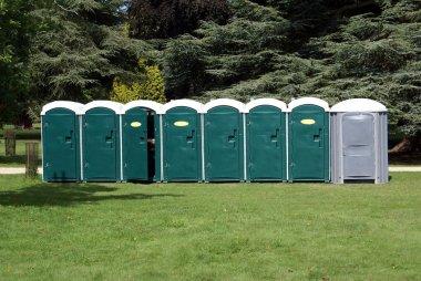 Public toilets. Portable toilets