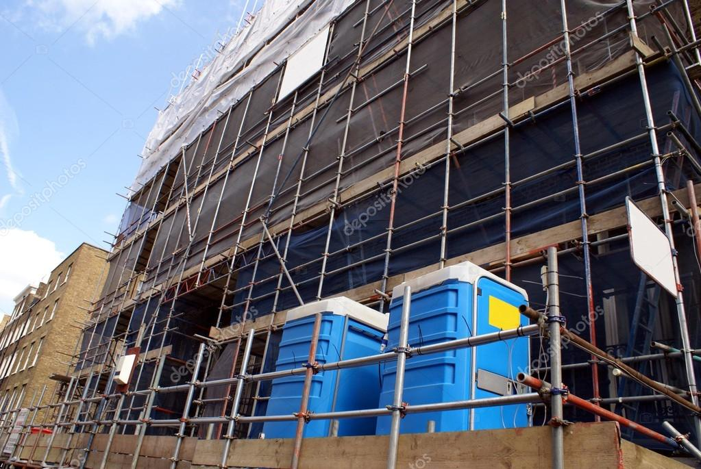 Construction site. scaffolding. renovation