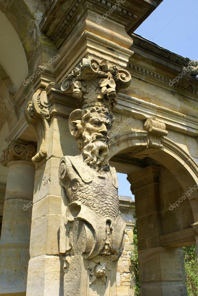 Pan Statue, Hever Castle Garden, Kent, England U2014 Stock Photo