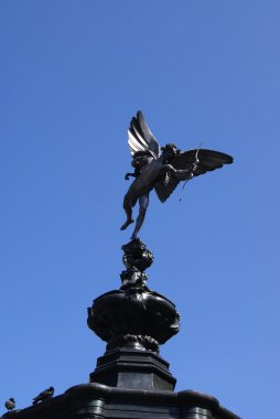 Eros sculpture of The Shaftesbury Memorial Fountain in Piccadilly Circus, London, England