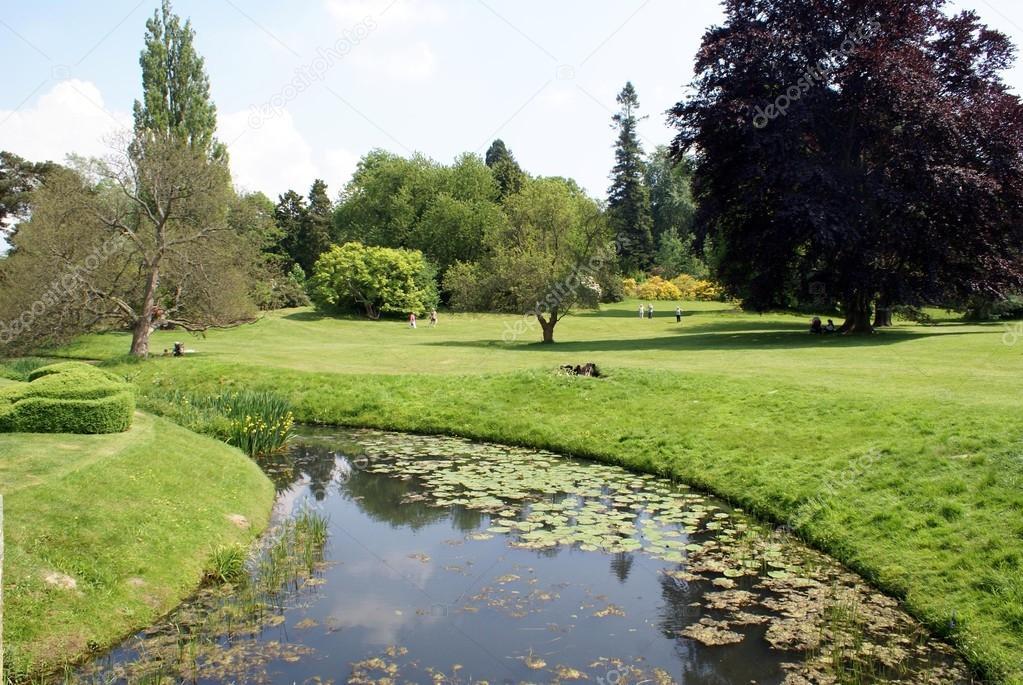 River Eden running through Hever Castle garden in Edenbridge, Kent, England
