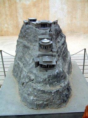 King Herod Palace replica in Masada, Judean Desert, Israel