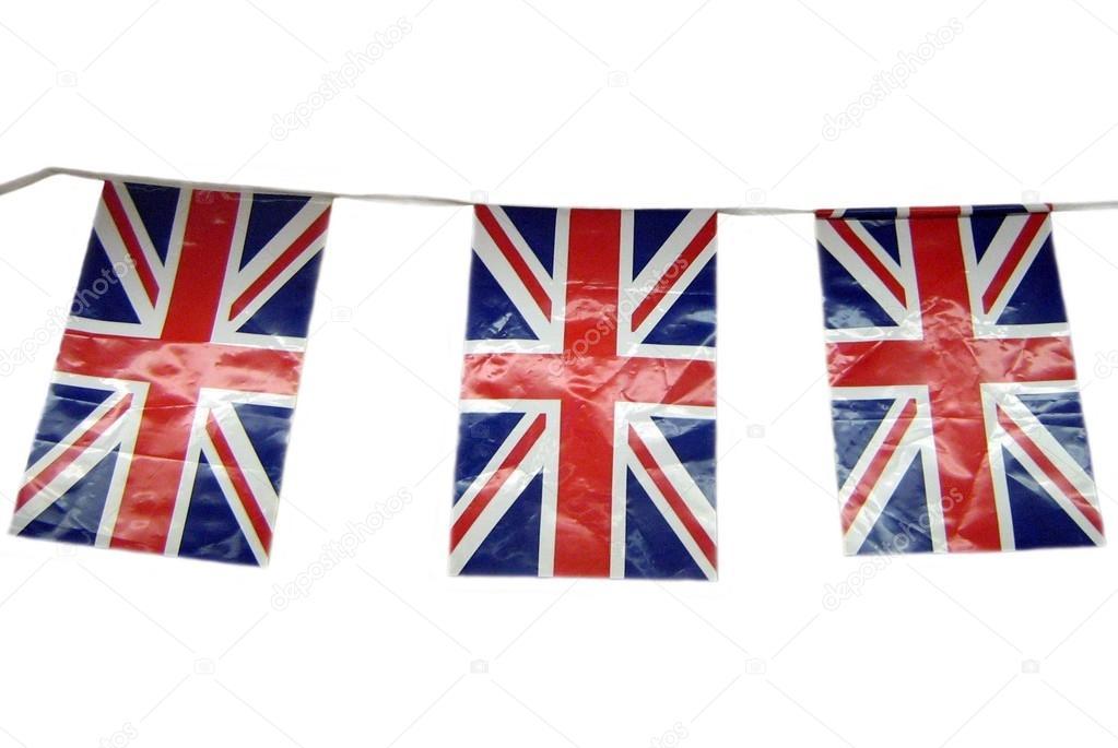 Decoración de plástico del empavesado de Union Jack. Empavesado de ...