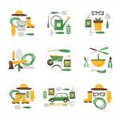 Zahradnické soubor ikony