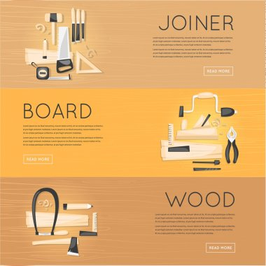 Composition with tools carpenter joinery products