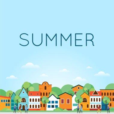 Summer Old city landscape