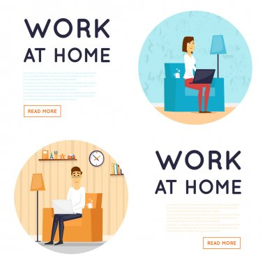 Working at home set