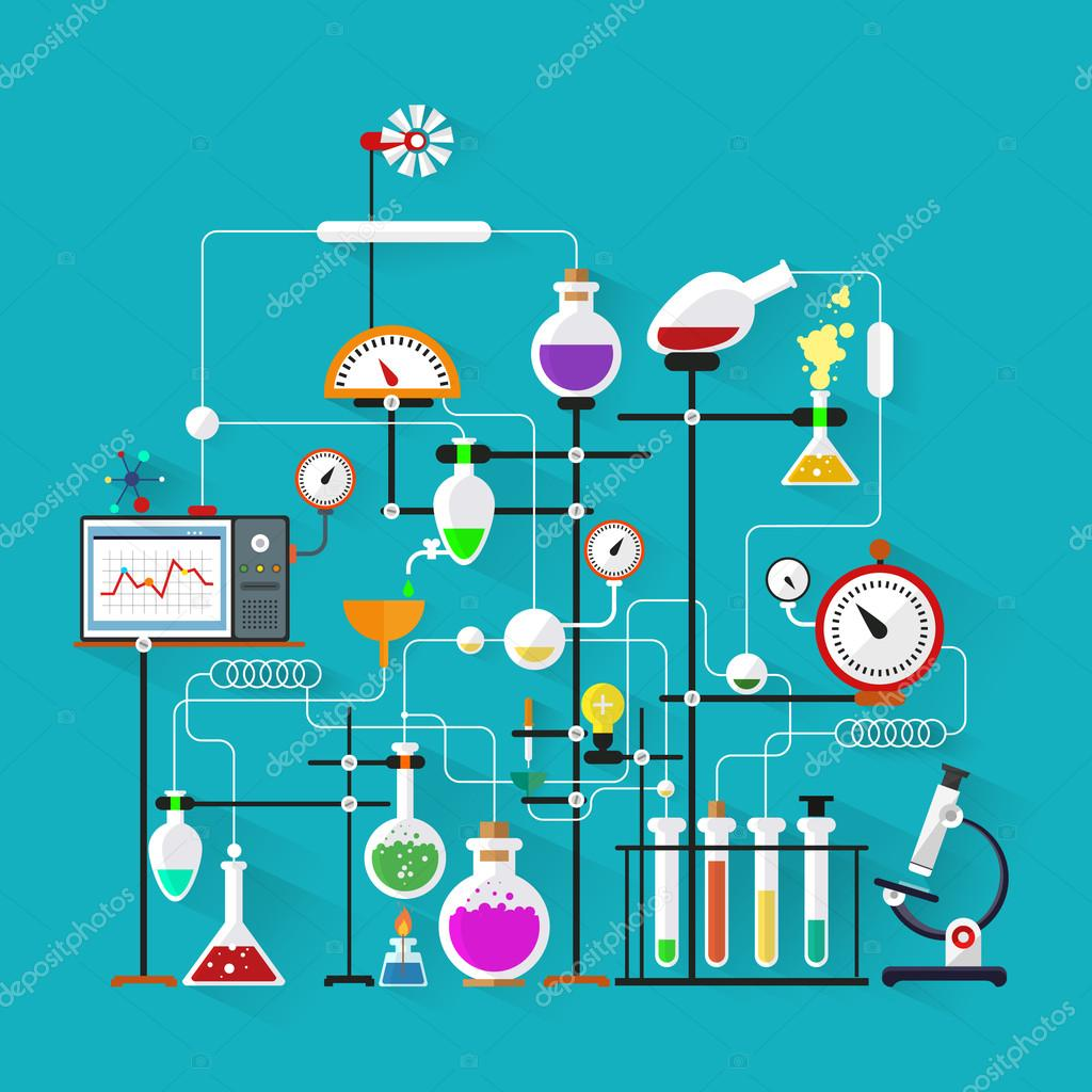 Flache bauform labor arbeitsbereich und arbeitsplatz konzept chemie physik biologie moderne for Physics planning and design experiments