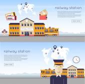 Fotografie Bahn-Station-Konzept