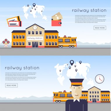 Railway station concept.