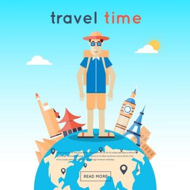 Man travels around world
