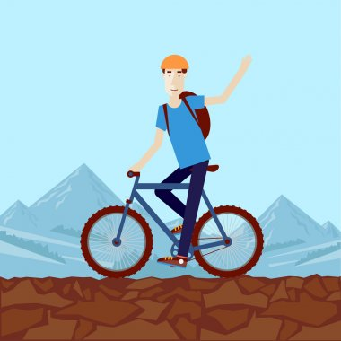 Man riding a mountain bike
