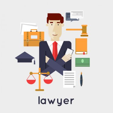 Lawyer law and order concept