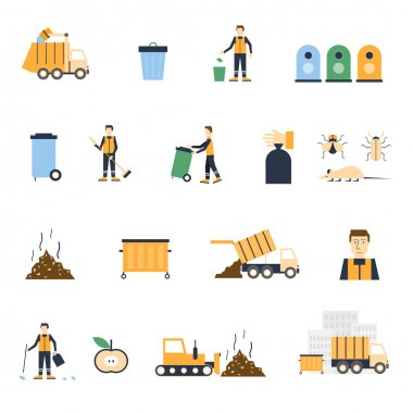 collection of icons about Garbage