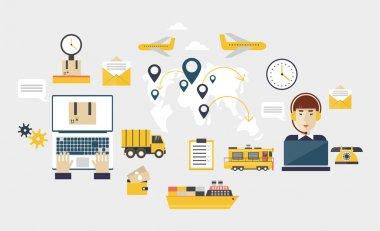 Logistic global transportation delivery