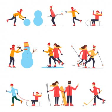 People involved in winter sports