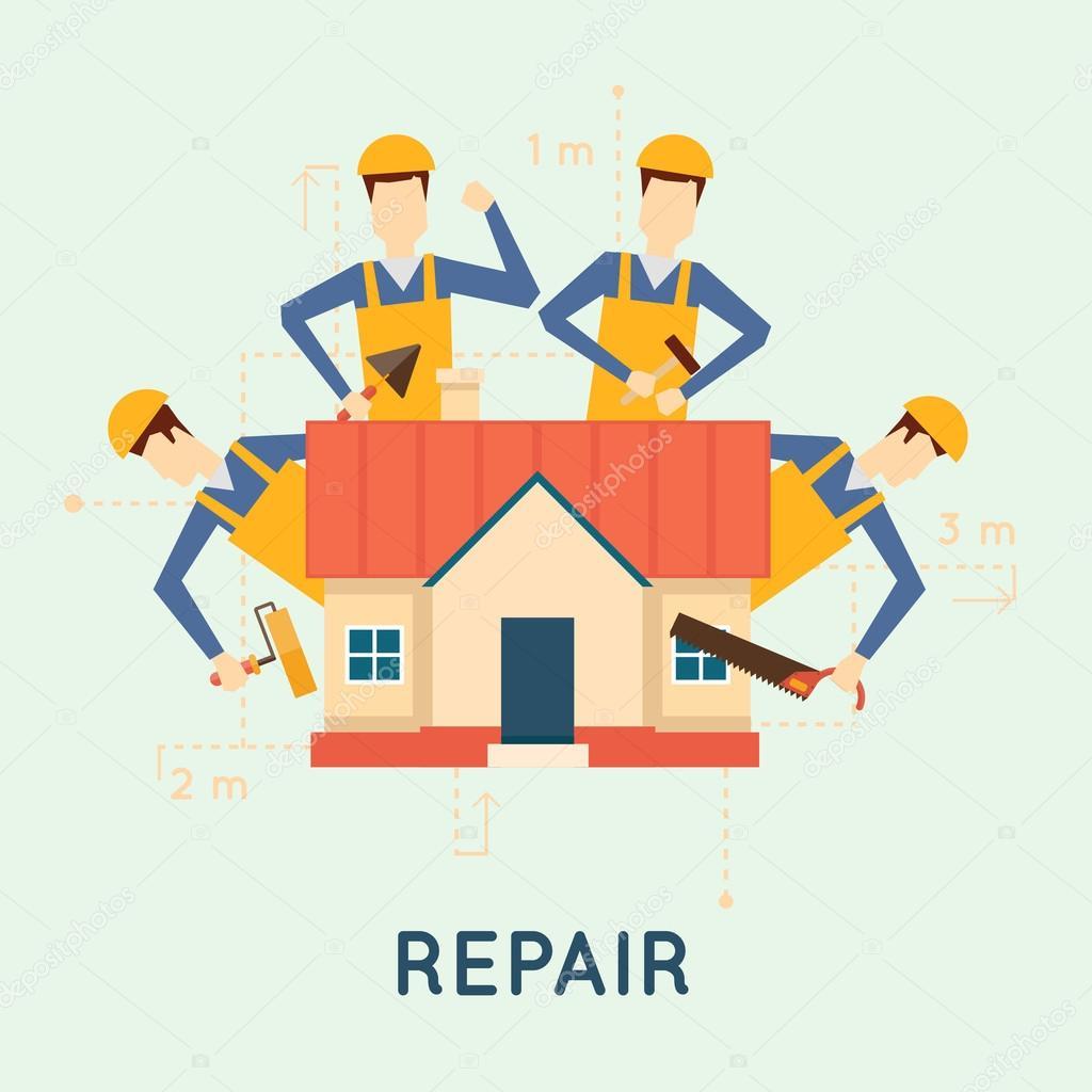 Home repairs illustration
