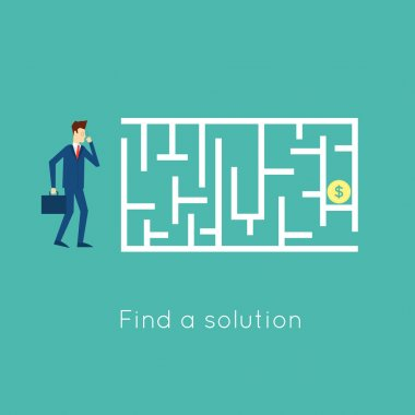 Walk the labyrinth to solve the problem