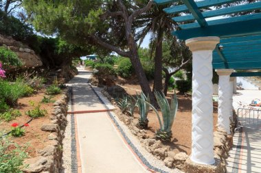Path in Kalithea Springs in Rhodes, Greece