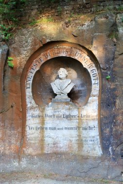 Martin Luther monument in Bad Schandau, Saxon Switzerland
