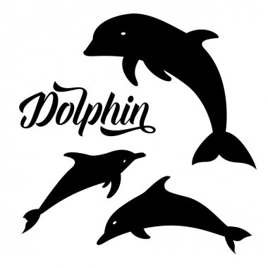 Dolphins silhouettes pattern