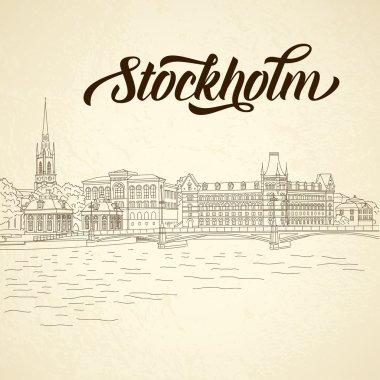 Vintage city sketching