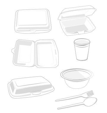 Styrofoam white on white background stock vector