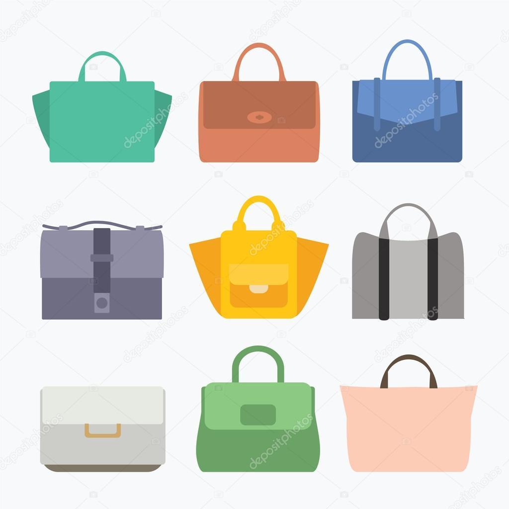 Fashion lady bags set — Stock Vector © vika nikon  55720909 3c91e17d69