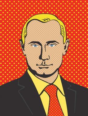 4 November 2015: vector illustration, portrait of President of Russain Federation Vladimir Putin