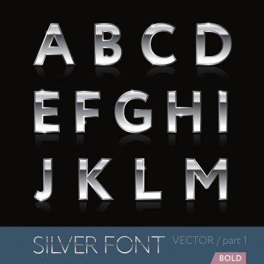 Silver (platinum, stainless, chrome) font - part 1