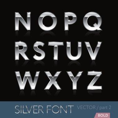 Silver (platinum, stainless, chrome) font - part 2