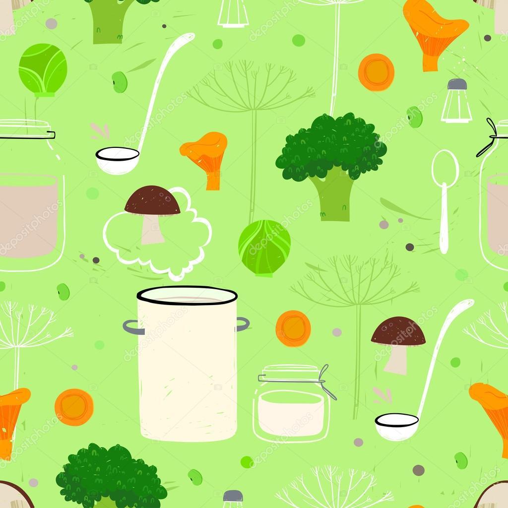 kitchen food pattern