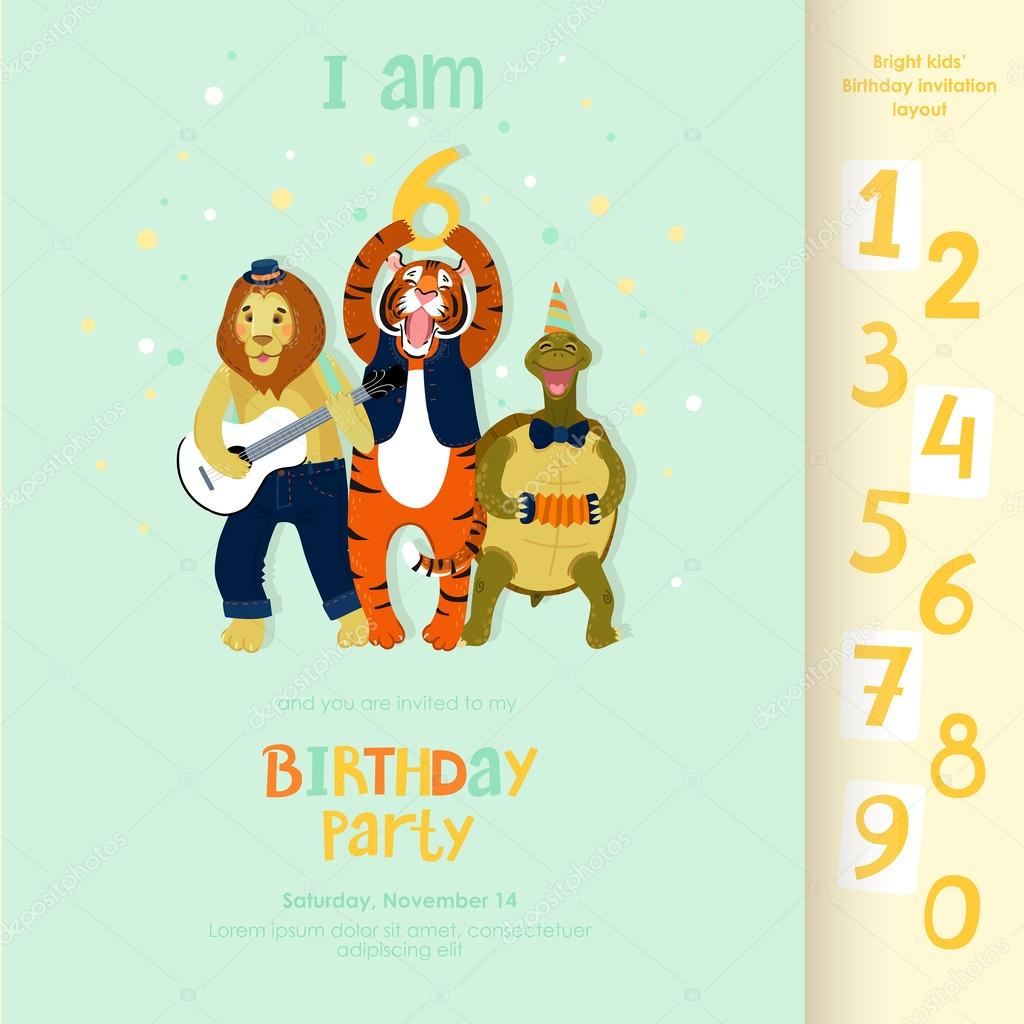 birthday invitation layout stock vector moonybaka 56562575