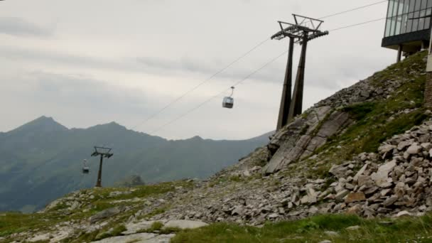 Funicular in mountain of Alps