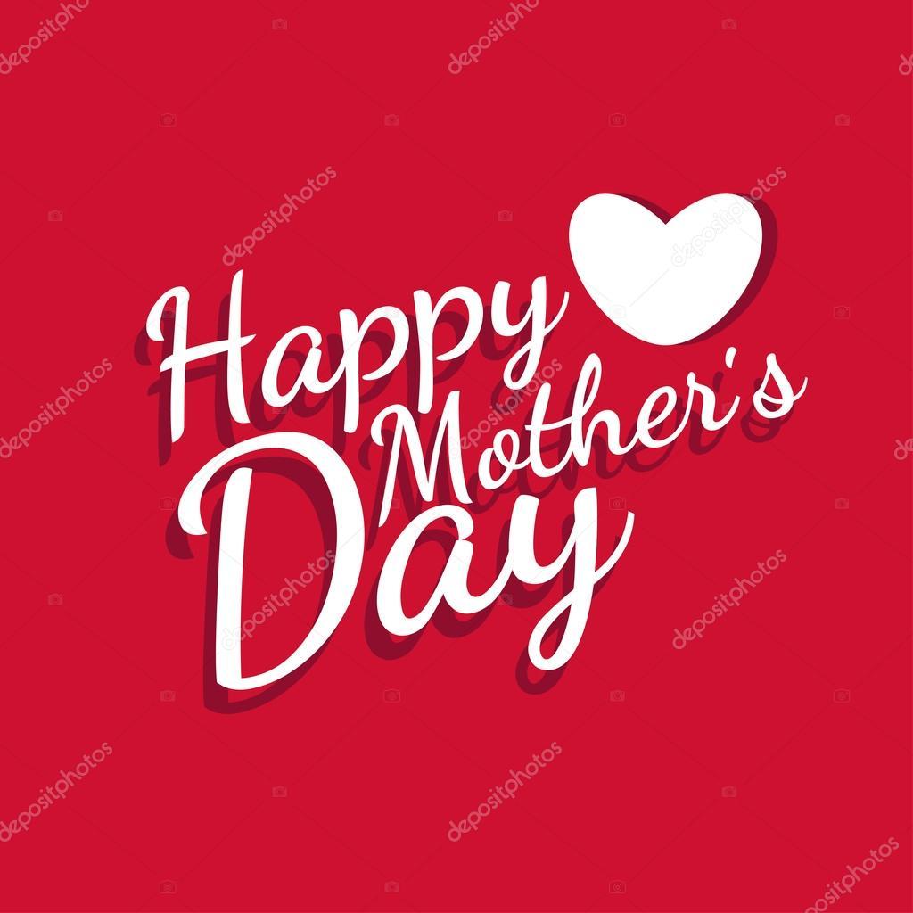 grattis på mors dag kort Illustration för glad mors dag Grattis kort. Vektor — Stock Vektor  grattis på mors dag kort